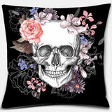 Famous Sugar Skull Flower Cushion Cover (45cm-45cm)