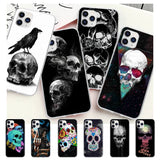 Grim Reaper Skull Skeleton Transparent Mobile Phone Case For IPhone 12 11 Pro Max Xs X Xr 7 8 6 6s Plus 5 5s Se 2020 Clear Cover