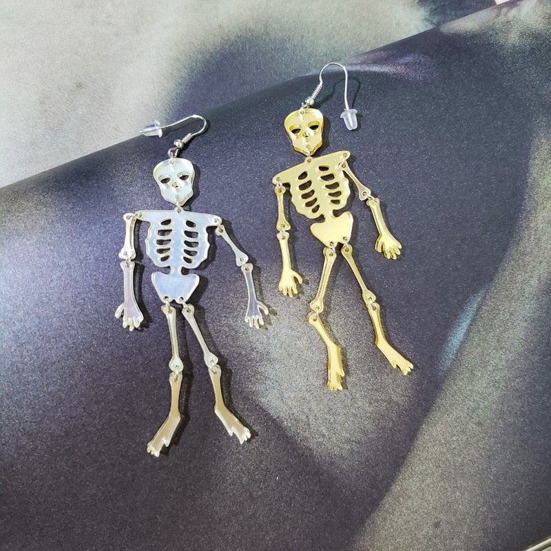 Acrylic Skeleton  Long Dangle Earrings for Women