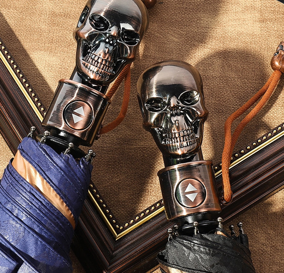 Skull Handle  Fully-automatic Umbrella