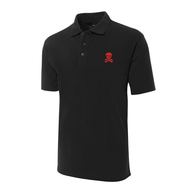 Skull and Crossbones Pirate  Short Sleeve Polo Shirt
