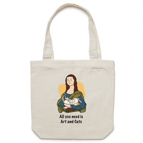 Canvas Tote Bag - Art Cat - Meow Express