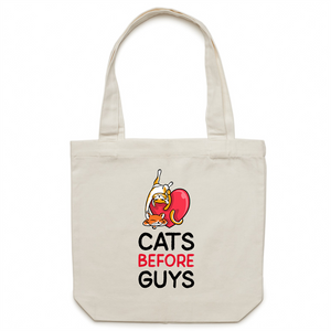 Canvas Tote Bag - Anti-Valentine Cat - Meow Express