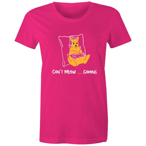 Sportage Surf Womens Tee - Gaming Cat - Meow Express