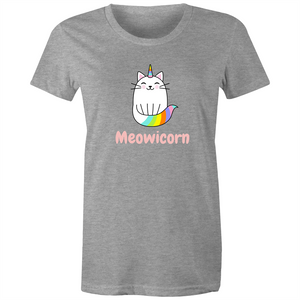 Sportage Surf Womens Tee - Meowicorn Cat - Meow Express