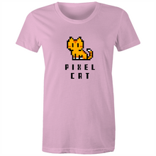 Load image into Gallery viewer, Sportage Surf Womens Tee - Pixel Cat - Meow Express