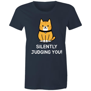 Sportage Surf Womens Tee - Silently Judging You! - Meow Express