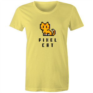Sportage Surf Womens Tee - Pixel Cat - Meow Express