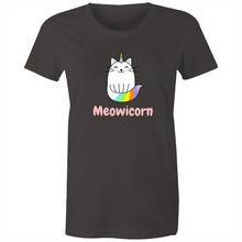 Load image into Gallery viewer, Sportage Surf Womens Tee - Meowicorn Cat - Meow Express