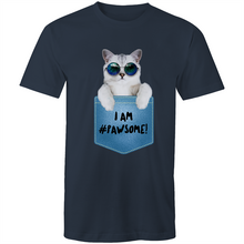 Load image into Gallery viewer, Sportage Surf Mens Tee  - I AM #Pawsome - Meow Express