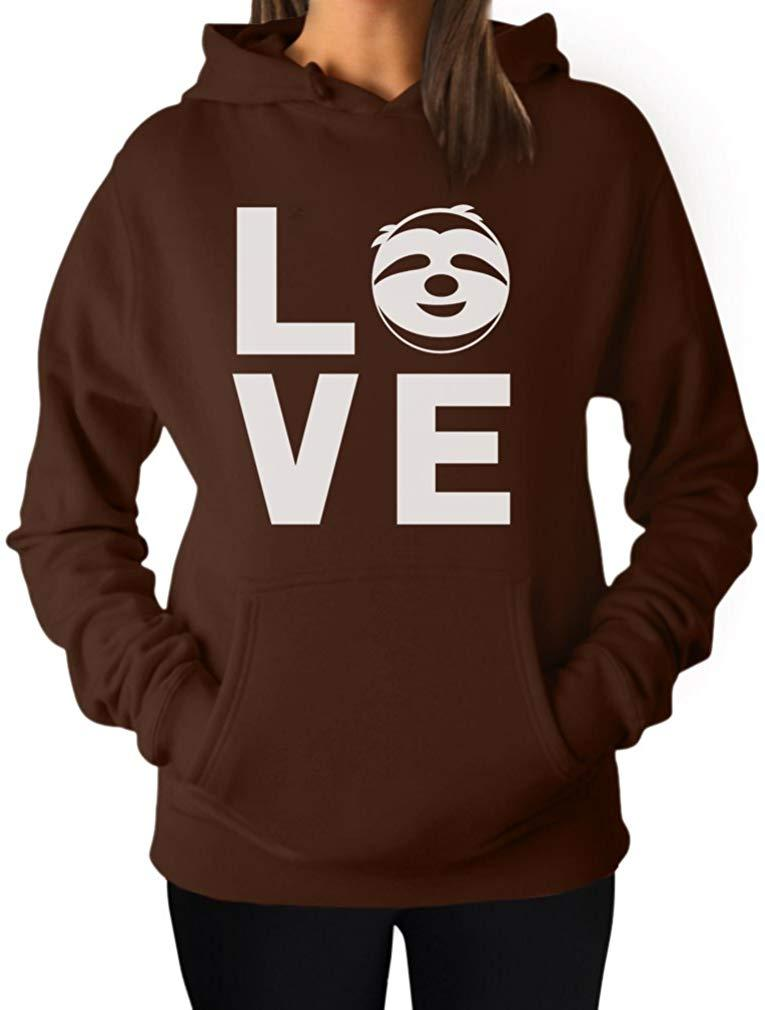 TeeStars - Love Sloths - Lazy Sloth Smiling Face - Animal Lovers Women Hoodie