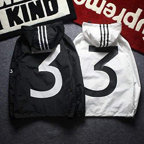 WillywFX Unisex Fashion Windbreaker Logo Letter Printed Hoodies Thin Casual Jacket