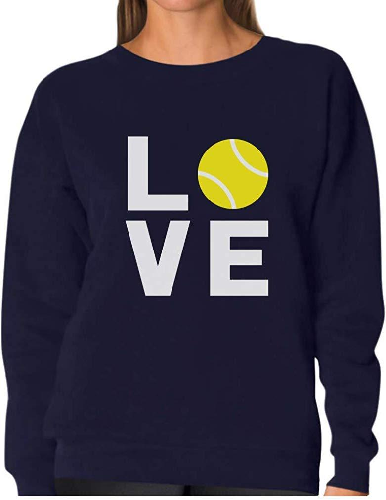 TeeStars - Love Tennis - Gift Idea for Tennis Fans Cool Women Sweatshirt