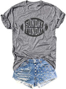 Sunday Funday Football Baseball T Shirts Tee Short Sleeve O-Neck Casual Sports Tops