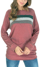 She's Style Women's Cotton Knitted Long Sleeve Loose Casual Pullover Tunic Sweatshirt Tops