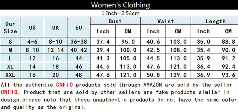 CNFIO Women Casual Shirt Dresses Summer Loose Button Down Dress with Pockets