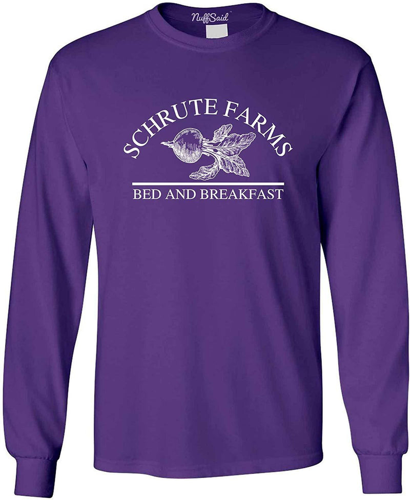 NuffSaid Schrute Farms Beets Bed and Breakfast Long Sleeve Shirt - Unisex