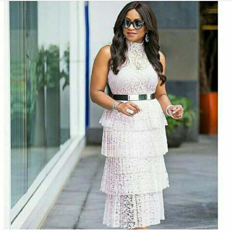 Lace Pleated Dress Women Sleeveless Turn-down Collar Hollow Out Long Maxi Dress Belt White Pink Robe Runway
