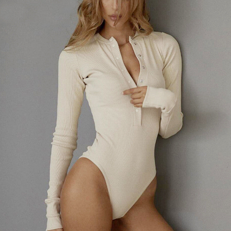 Women Autumn Winter Basic Body Top Long SLeeve V neck Bandage Slim Bodysuit Elegant Laidies Stretch Leotard Streetwear
