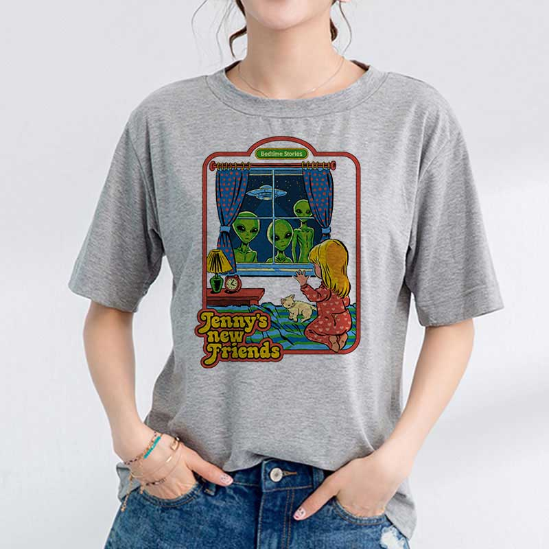 Korean Clothes 90s Vintage Tshirt Women 80s Tumblr Female T-shirt Women Funny Streetwear Ladies Jennys New Friends Tee Shirt