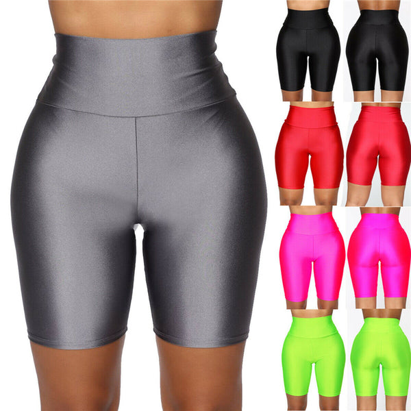 Women Cycling Shorts Dancing Gym Biker Slim Active Sports Solid Sexy Skinny Summer Shorts Basic Stretch Short Trousers