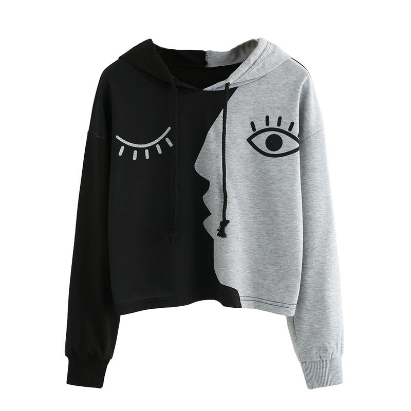 Women Fashion Hoodie Sweatshirt Jumper Sweatershirt Short top Coat Women Sport Pullover Hooded Tops Female Autumn Winter