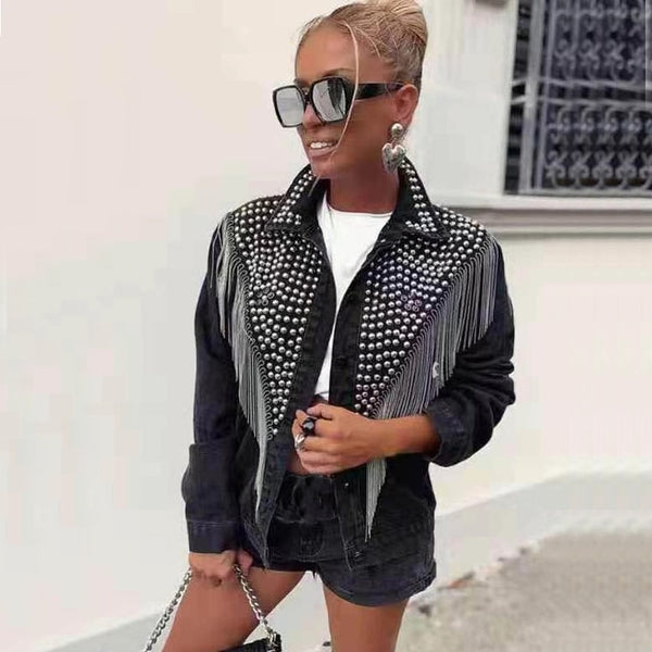 Denim  jacket  women  xintiandi sherpa  streetwear  trending products womens jackets and coats
