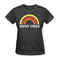 Good Vibes Women's T-Shirt - heather black