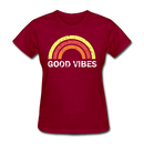 Good Vibes Women's T-Shirt - dark red