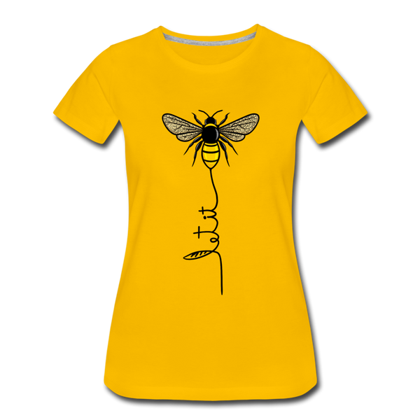Let it Bee Women T-Shirt - sun yellow