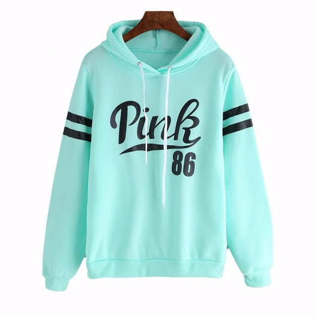 Women pink hoodies pullovers spring autumn clothes female sweatershirt tops outwear