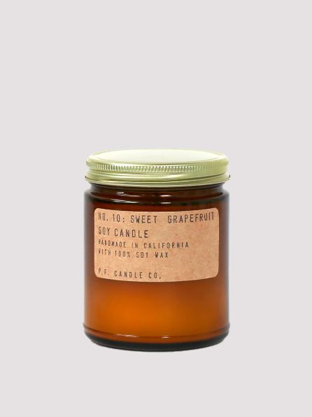 VELA STANDARD ESENCIA Sweet Grapefruit (7.2 OZ) | PF. CANDLE CO.