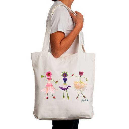 Golly Gosh Canvas Tote Bag Flower Girls