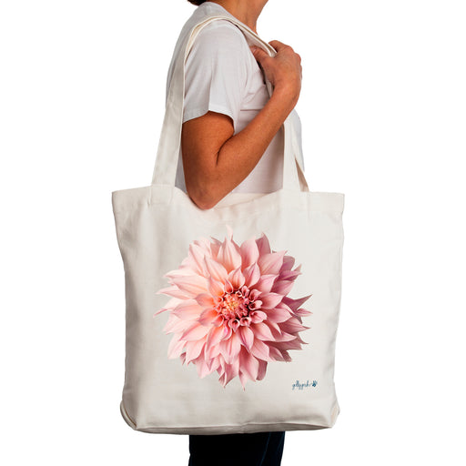 Golly Gosh Canvas Tote Bag Dahlia Flower