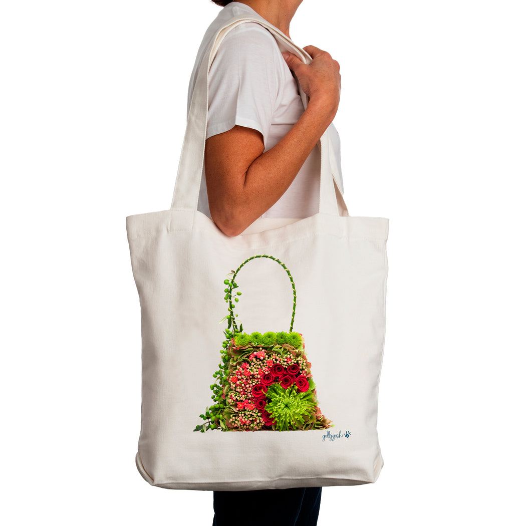 Golly Gosh Canvas Tote Bag Flower Tapestry Bag