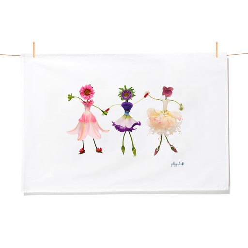 Golly Gosh Kitchen Tea Towel Dancing Flower Girls