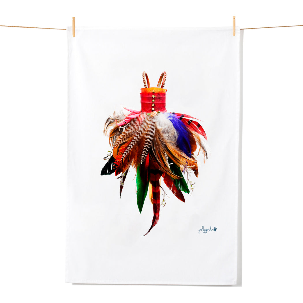 Golly Gosh Kitchen Tea Towel Feather Dress