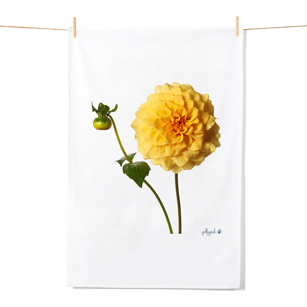 Golly Gosh Kitchen Tea Towel Sunburst Dahlia