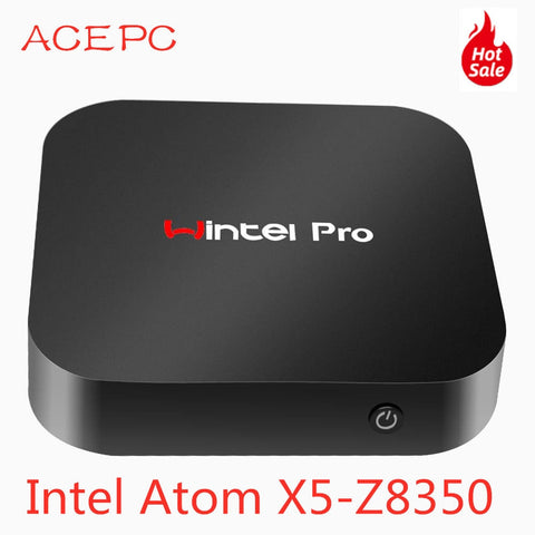Mini PC Windows10 Wintel Pro Atom Intel Quad Core X5-Z8350 1.84GHz 4GB/64GB Dual 2.4G/5G WIFI 100M LAN Desktop Computers PC mini