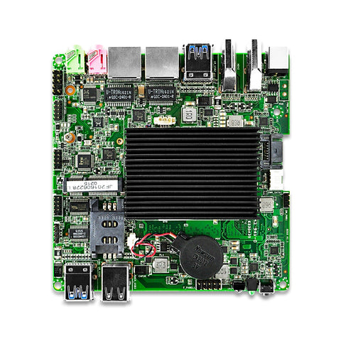 OEM Qotom mini pc board  Q3060G2-P celeron J3060 dual core Low Power 6W 3Display Fanless support windows Linux OS