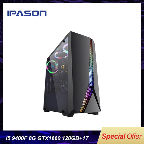 Intel Desktop Gaming PC P24 i5 9400F 6-core /Dedicated Card GTX1660 6G/ASUS B365M/1T+120G SSD/8G DDR4 RAM PUBG gaming Desktop PC
