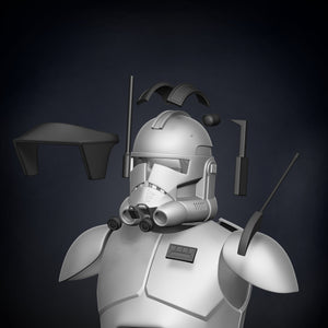 Animated Commander Cody Armor Accessories - 3D Print Files - Galactic Armory