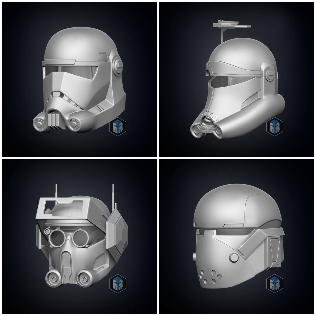 Bad Batch Bundle - 4 in 1 Helmet 3D Print Files - The Galactic Armory