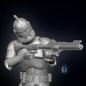 Clone Trooper Figurines - Defenders - 3D Print Files - The Galactic Armory