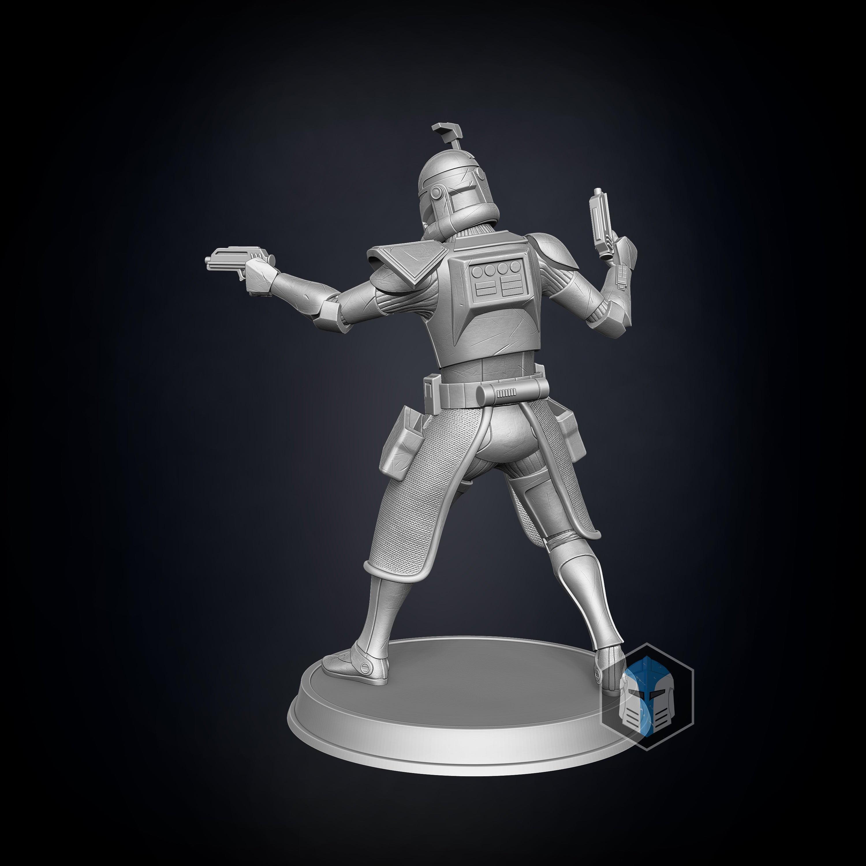 Captain Rex Figurine - Guardian - 3D Print Files - The Galactic Armory
