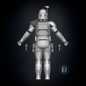 Animated Captain Rex Armor Accessories - 3D Print Files - The Galactic Armory