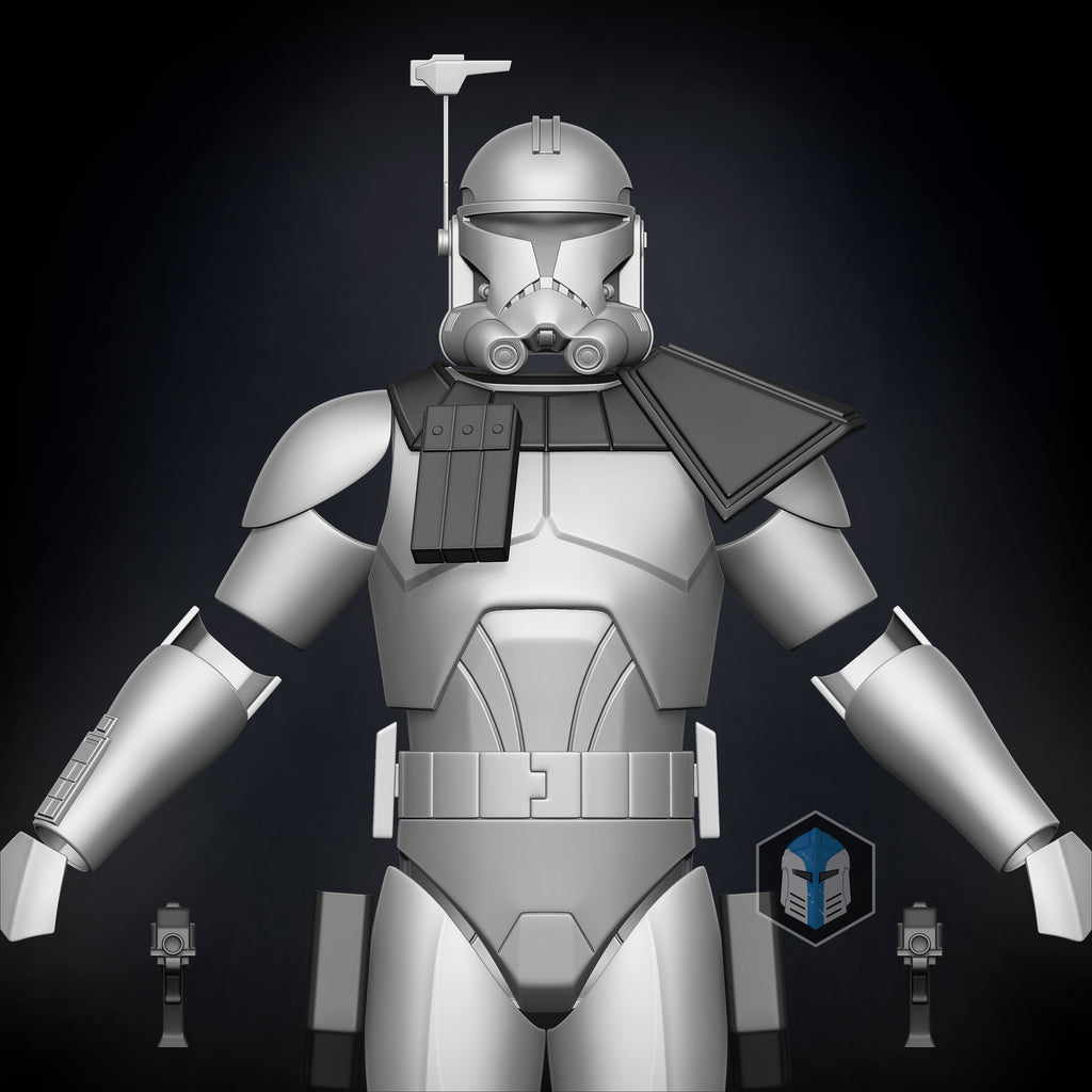 Animated Captain Rex Armor Accessories - 3D Print Files - Galactic Armory