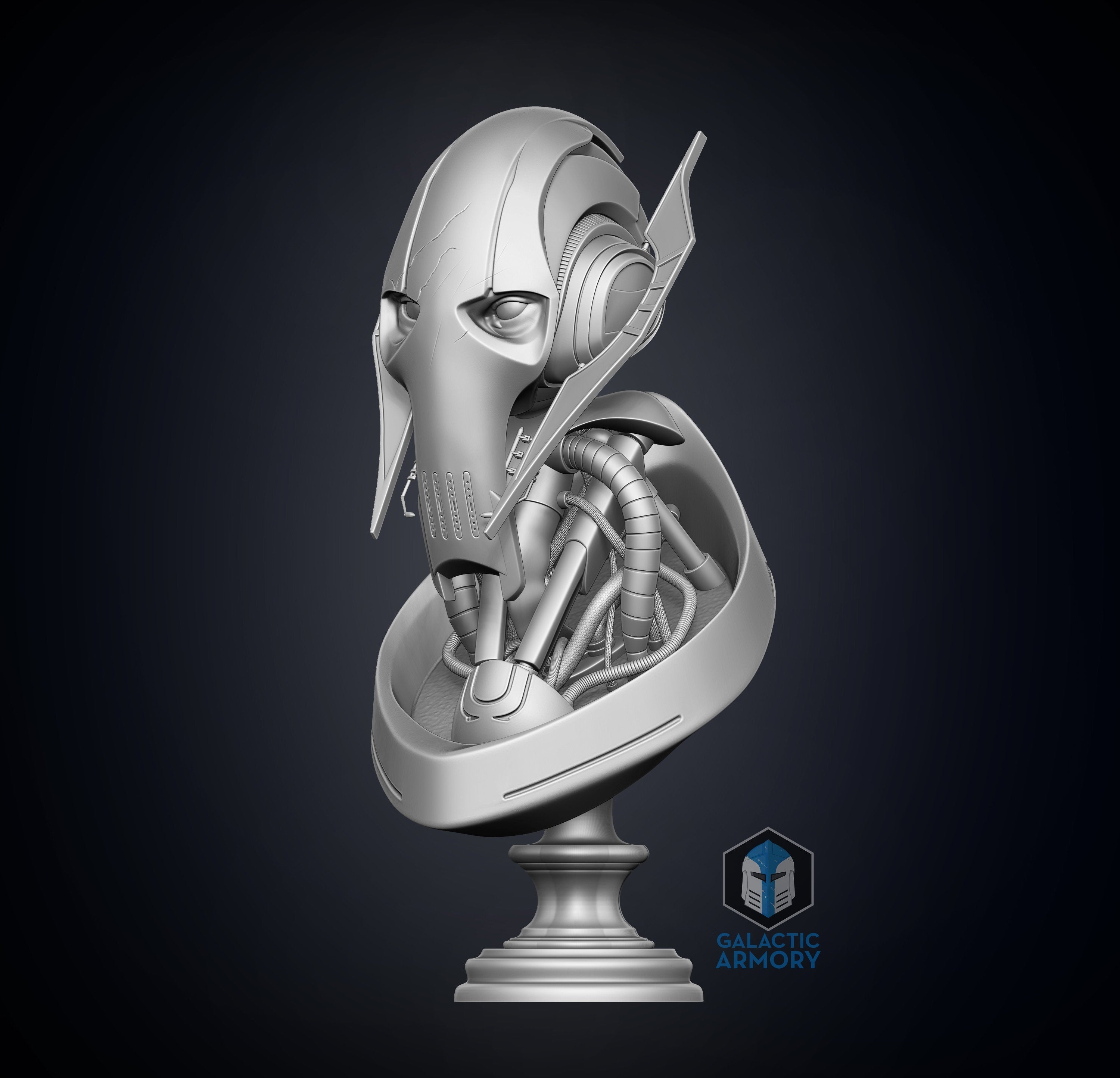 General Grievous Bust - 3D Print Files - The Galactic Armory