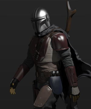 The Mandalorian Figurine - 3D Print Files - Galactic Armory