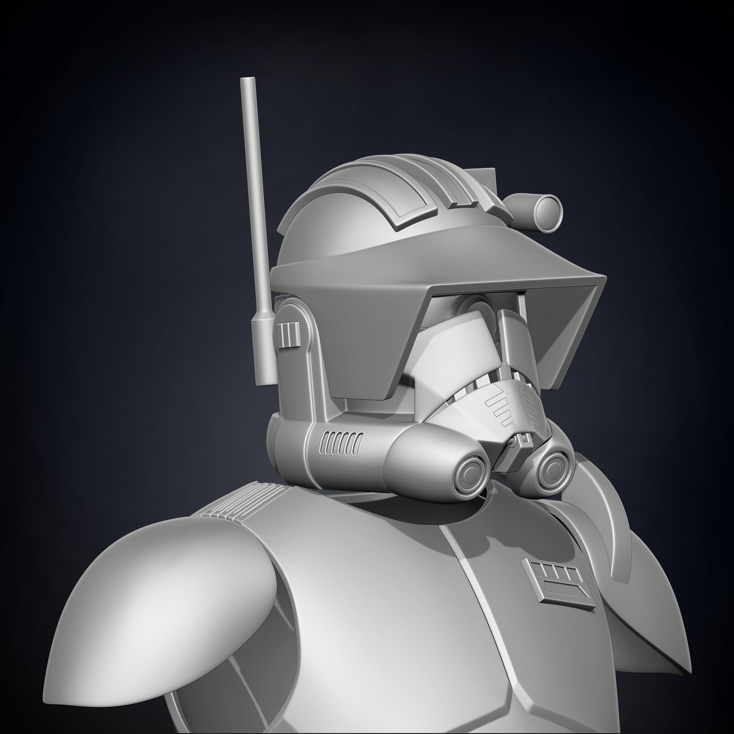 Animated Commander Cody Armor Accessories - 3D Print Files - The Galactic Armory